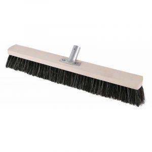 SOREX Mélange de qualité balai en PVC avec manche en métal porte-balai en bois plat L.500mm SOREX