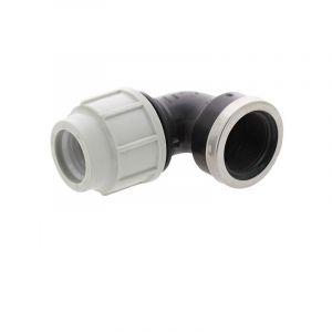 Coude 90° avec dérivation taraudée PE compression PLASSON Ø32-11/4 de Plasson - Raccord PE compression