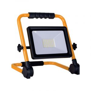Projecteur LED 20W Pour Chantier Portable IP65 + 3M de câble - Blanc Froid 6000K - 8000K - SILAMP
