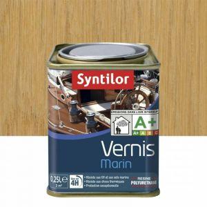 Vernis marin incolore Syntilor: brillant, mat ou satiné (mat - pot de 0,25 l) - Aspect - Conditionnement : Mat - Pot de 0,25 L