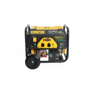 CHAMPION USA Groupe Electrogène 7000W essence/Gaz démarrage élec CPG7500E2-DF-EU - Noir et jaune