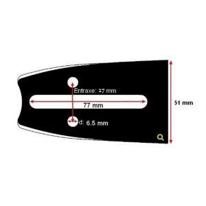 Oregon - Guide tronconneuse Echo 25 cm