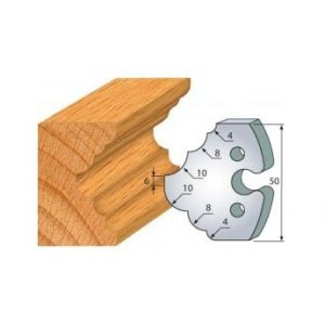 275 : jeu de 2 fers 50 mm 1/4 de rond et congé pour porte outils 50 mm - LUXOUTILS