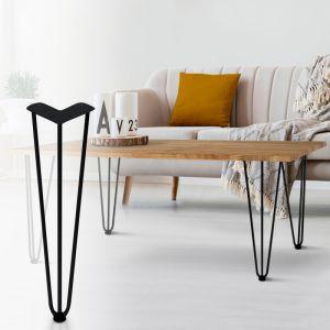 Lot de 4 pieds épingle 40.5 cm pour table design industriel - IDMARKET