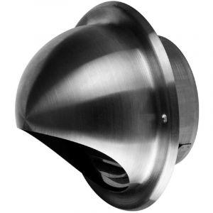 160mm éjecteur d'air en acier inoxydable capuchon de conduit demi-circulaire extérieur boîtier boîtier - AWENTA