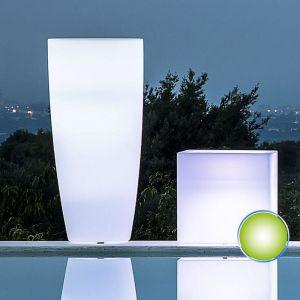 Pot de Fleurs Agave Rond avec Lampe Verte H90 Ø 40Cm - IDRALITE