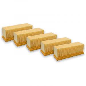 vhbw 5xFiltres plats aspirateur multifonctions Kärcher A2701, A2731 pt, A2801, NT 181 Profi, SE 2001, SE 3001, SE5.100, SE6.100 plus comme 6.414-498.0