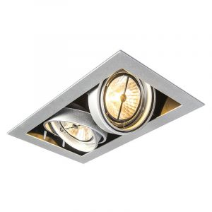 Spot encastrable rectangulaire en aluminium - Oneon 111-2 Qazqa Design, Moderne Luminaire interieur