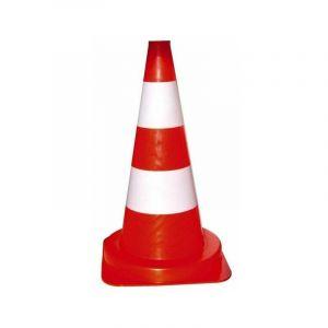 Balise 50 cm - 1.1 kg - pvc orange - 2 bandes blanches - MULLIEZ ET FLORY