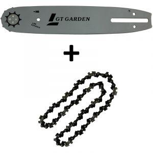 Guide 10 pouces (26 cm) avec chaîne 40 maillons pour tronçonneuse élagueuse 25 cm3 - GT GARDEN