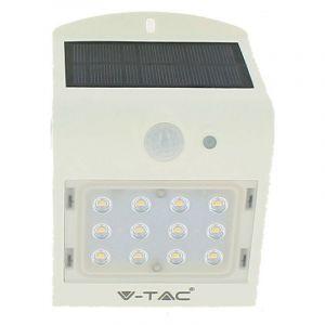 Lot de 2 Appliques solaires Blanches extérieur 1.5W Blanc naturel - ECLAIRAGE DESIGN