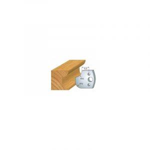 177 : jeu de 2 fers 40 mm congé quart de rond 15 mm pour porte outils 40 et 50 mm - LUXOUTILS