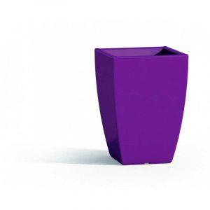Pot de Fleurs Parodia en Résine Carré Violet H50 33x33 Cm - IDRALITE
