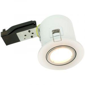 Spot BBC RT2012 orientable blanc Avec spot LED GU10 5W - ECLAIRAGE DESIGN