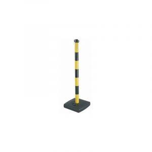 Finish - Poteau + socle pvc 4kg jaune /noir h 90mm socle 28x28x50mm