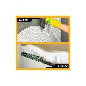 Colle à carrelage en pâte pour carreaux et plaquette de parement (D1-ET) - SIKA SikaCeram Basic - Ivoire - 5kg