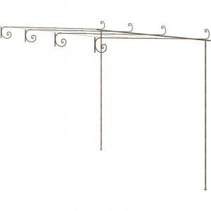 True Deal - Arche de rosiers de jardin Marron antique 4x3x2,5 m Fer