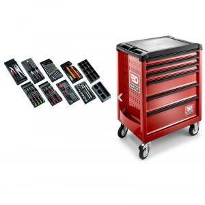 M.118 Sélection tous métiers 118 outils et servante 6 tiroirs 6 tiroirs - FACOM