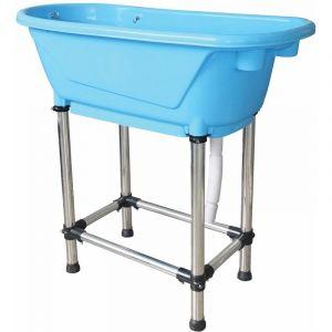 Mini baignoire plastique bleue 95 x 50 x