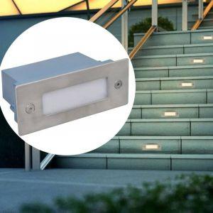 2 Luminaires LED encastrés pour escalier 44 x 111 x 56 mm - VIDAXL