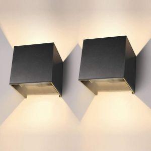 12W Led Applique murale chambre Moderne Interieur, Aluminium luminaires Réglable Lampe Up and Down Design Blanc Chaud pour Chambre Maison Couloir Salon (Blanc) - STOEX
