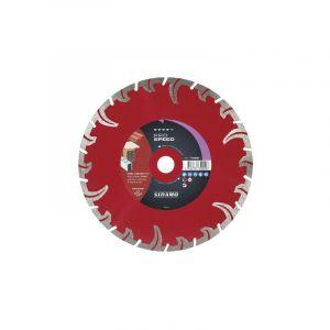 Sidamo - Disque diamant jante segmentée matériaux de construction Pro Speed diamètre 230 mm, épaisseur 2,6 mm, alésage 22,2 mm