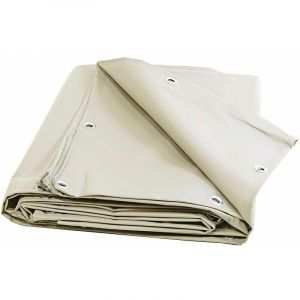 Bâches Direct - Bache 680 g/m² - 4 x 3 - Bache Ivoire - Baches PVC - Bache exterieur pour une bonne étanchéité - bache imperméable