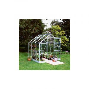 Popular 66 en verre horticole - 3.80 m², Couleur Silver, Base Avec base - HALLS