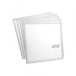 Silamp - Panneau LED 60x60 Slim 45W BLANC (Pack de 6) - No Flicker - Blanc Neutre 4000K - 5500K