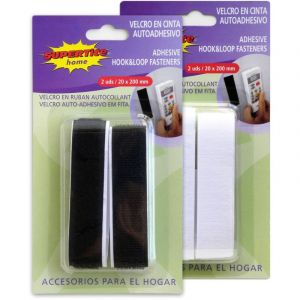 Ruban velcro autocollant - lot de 2 sous blister - SUPERTITE SAM