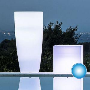 Pot de Fleurs Agave Rond avec Lampe Bleue H90 Ø 40Cm - IDRALITE