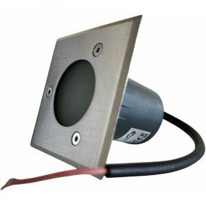 Spot encastré carré pour ampoule 12V - douille GU5.3