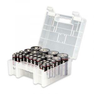 Ansmann Lot de piles LR03, LR6, LR14, LR20, bloc 9V 35 pc(s) avec boîte