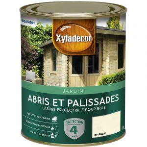 Lasure protectrice pour bois extérieur - Abris et Palissades - aspect mat lin opaque 1 L - Xyladecor