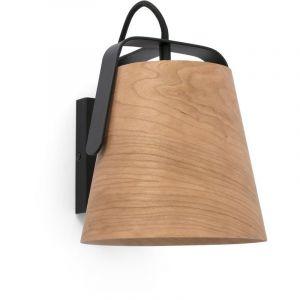 STOOD Lampe applique noire et bois - FARO BARCELONA