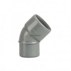 Coude Mâle / Femelle PVC - 45° - Diamètre 40 mm - WAVIN