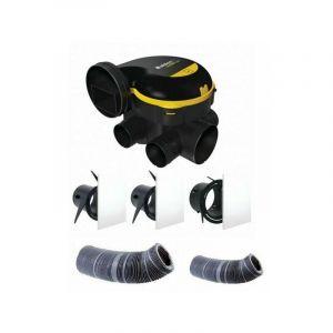 Kit complet gaines et vmc simple flux easyhome auto + grilles de ventilation colorline - ALDES