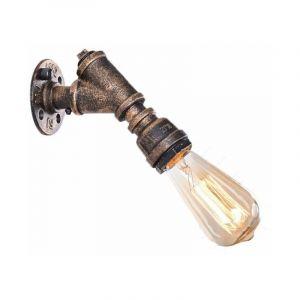 Applique Murale Vintage Tuyau Robinet Finition de Fer Industriel Éclairage Lampe Rétro Eclairage Decoratif - STOEX