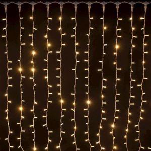 Rideau lumineux raccordable Noël Ixia - 2 x 1,5 mètres - Blanc chaud - LOTTI