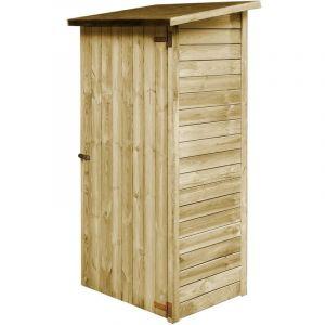 Abri à outils de jardin Bois de pin imprégné 88 x 76 x 175 cm - True Deal