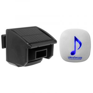 Alerte de passage 600m - Détecteur de mouvement solaire autonome & carillon 35 mélodies volume réglable (DA-600) - ULTRA SECURE