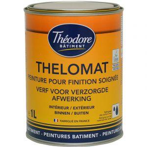 Peinture mate de qualité supérieure classée Ecolabel, recommandée pour les plafonds : Thelomat - RAL 1005 Jaune miel - 1L - PEINTURES THEODORE