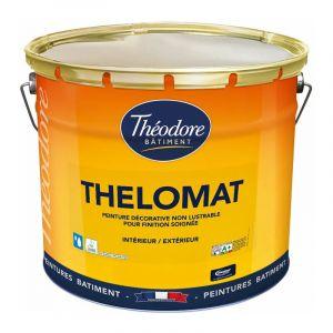 Peinture mate de qualité supérieure classée Ecolabel, recommandée pour les plafonds : Thelomat - RAL 1005 Jaune miel - 15L - PEINTURES THEODORE