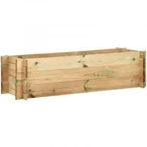 Jardinière surélevée de légumes Bois de pin imprégné FSC 120 cm - VIDAXL