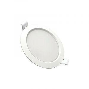 Downlight Dalle LED Plate Ronde BLANC 10W Ø115mm - Blanc Chaud 2300K - 3500K - SILAMP