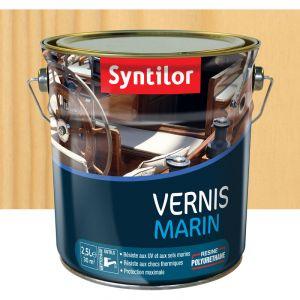 Vernis marin incolore Syntilor: brillant, mat ou satiné (brillant - pot de 2,5 l) - Aspect - Conditionnement : Brillant - Pot de 2,5 L