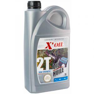 Bidon huile moteur 2 temps semi-synthèse 2 litres - JARDIN PROMO PIÈCES