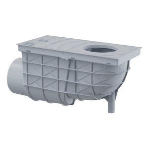 Bac de récupération d'eau de pluie pour tuyaux de descente 300/155/110 Horizontal gris AGV3S - ALCAPLAST