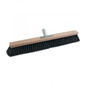 SOREX Mélange de qualité balai en PVC avec manche en métal porte-balai en bois plat L.600mm SOREX