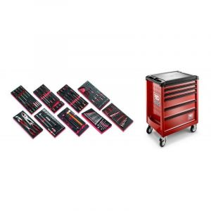 Facom - ROLL6M3.CM138 Sélection de 138 outils pour la maintenance automobile plus servante 6 tiroirs ROLL 6 tiroirs